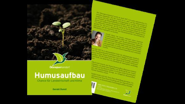 Buch Humusaufbau - Chance für die Landwirtschaft und Klima, von Gerald Dunst, Deckblatt und Rückseite