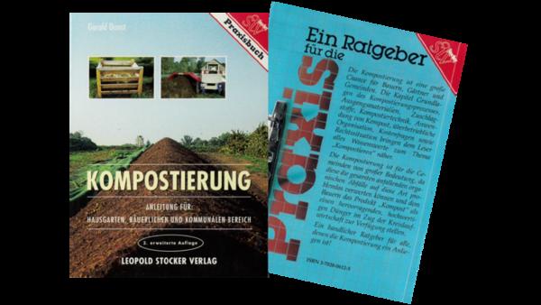 Buch Kompostierung - Anleitung für Hausgarten, bäuerlichen und kommunalen Bereich, Deckblatt und Rückseite