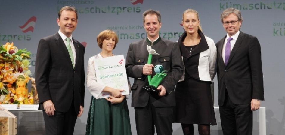 Sonnenerde ausgezeichnet mit dem Österreichischen Klimaschutzpreis 2012
