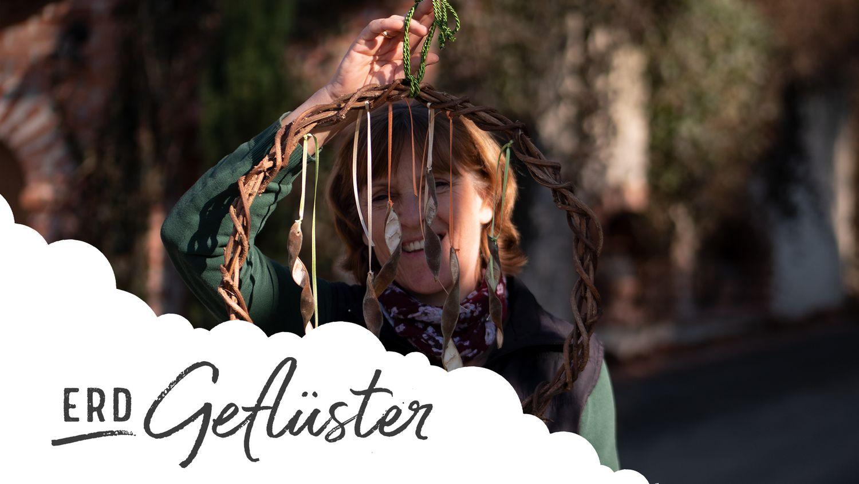 Basteln mit der Natur II | Blauregenkränze | ErdGeflüster powered by Sonnenerde