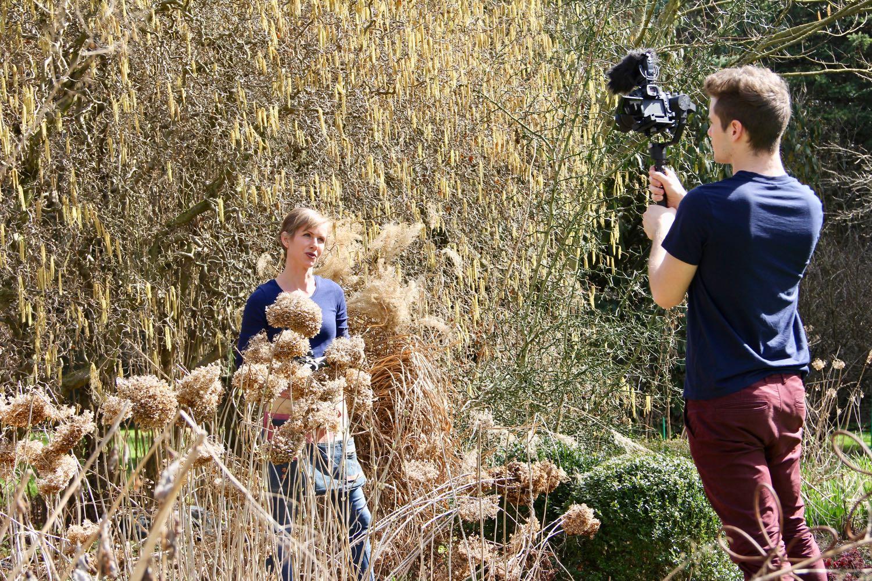 Drehtag mit Angelika Ert-Marko für das erste Erd-Geflüster Video