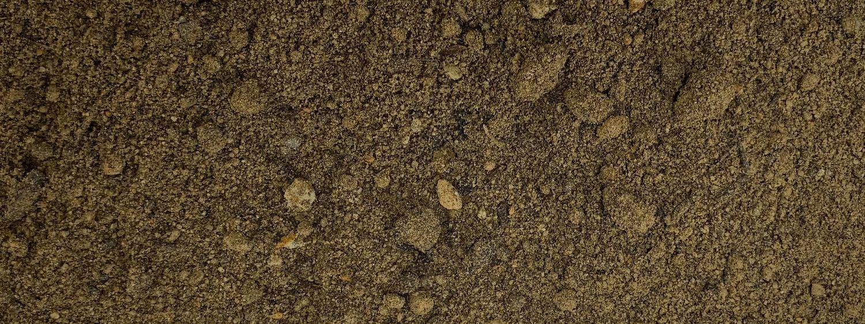 Wiesenhumus von Sonnenerde, Detailfoto von der Erdenstruktur