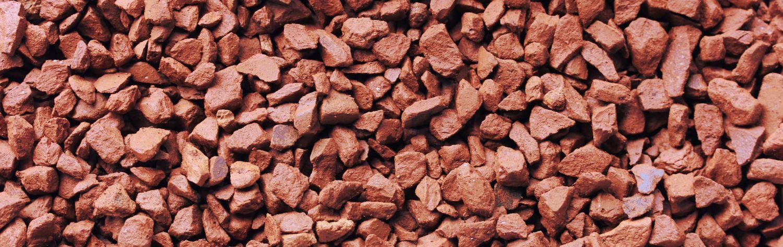 Ziegelsplitt 8-12 mm von Sonnenerde, Detailfoto vom hartgebrannten Split